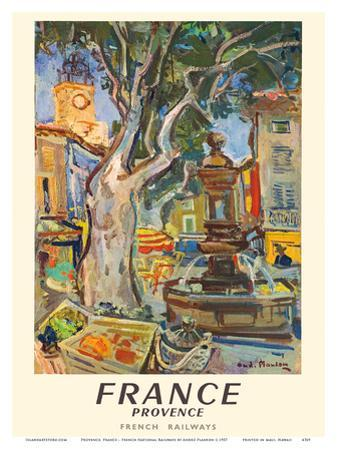Provence, France - French National Railways - Market in Aix-en-Provence