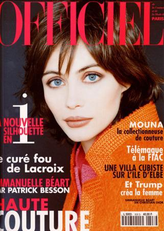 L'Officiel, September 1996 - Emmanuelle Béart