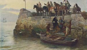 Lost Cause: The Flight of King James II after the Battle of the Boyne by Andre & Sleigh