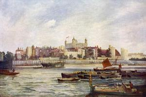 The Tower of London from across the Thames by Andre & Sleigh