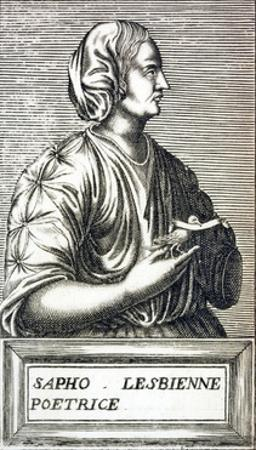 Portrait of Sappho of Lesbos