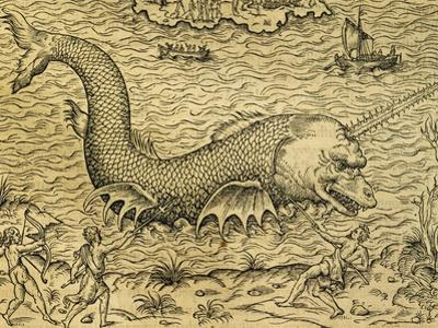 Sea Monster, Engraving from Universal Cosmology