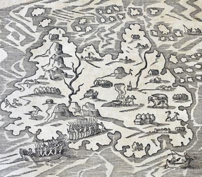 Trinity Island, Engraving from Universal Cosmology
