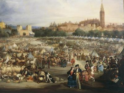 The Fair of Seville, the Cathedral and Giralda in Background
