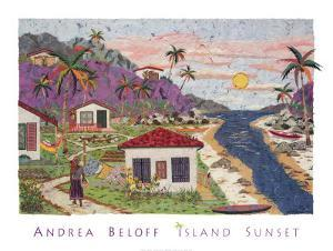 Island Sunset by Andrea Beloff