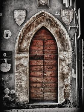 Ancient Door in L'Aquila by Andrea Costantini