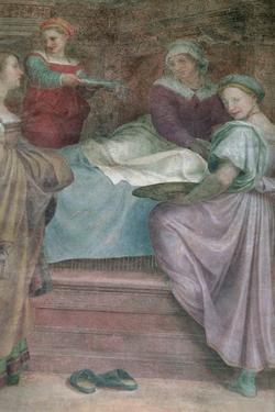 Ladies in Waiting, Detail from the Birth of the Virgin by Andrea del Sarto