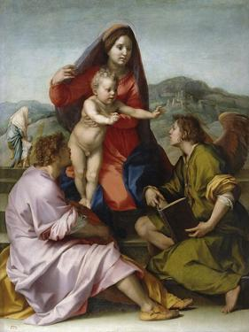 Madonna and Child with Saint Matthew and the Angel by Andrea del Sarto