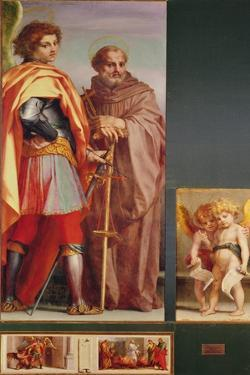 Polyptych from Vallombrosa Abbey, Detail of the Left Hand Side by Andrea del Sarto