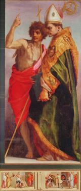 Polyptych from Vallombrosa Abbey, Detail of the Right Hand Side by Andrea del Sarto