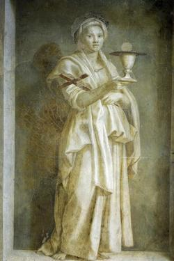 Representation of Faith, Detail from Stories of Virgin by Andrea del Sarto