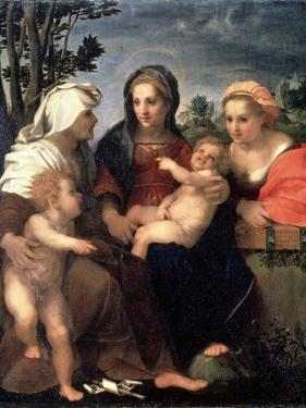 Virgin and Child with Saints Catherine, Elisabeth and John the Baptist, 1510S by Andrea del Sarto