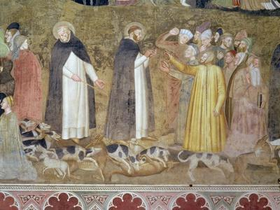 The Church Militant and Triumphant, Detail of the Heretics, from the Spanish Chapel, c.1369