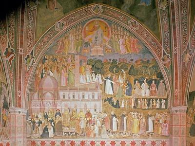 The Church Militant and Triumphant, in the Spanish Chapel, C.1369