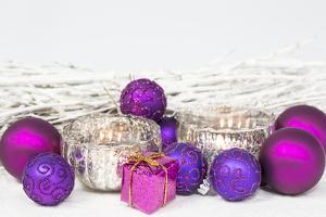 Christmas Decoration Purple Pink Ones by Andrea Haase