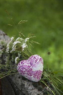 Heart, Flowers, Wild Flowers, Green by Andrea Haase