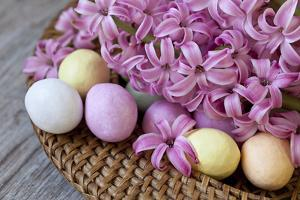 Hyacinth Blossoms and Easter Eggs by Andrea Haase