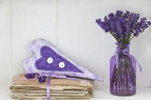 Lavender, Blossoms, Vase, Letters, Heart by Andrea Haase