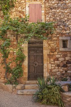 Old Door and House Facade in the Provence by Andrea Haase