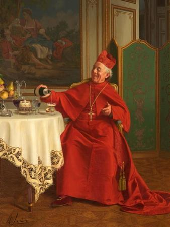 Une Bonne Bouteille, or a Good Bottle, 1880S by Andrea Landini