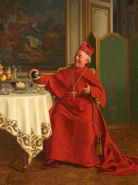 Une Bonne Bouteille, or a Good Bottle, 1880S by Andrea Landini