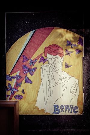 David Bowie Poster, butterflies, Manhattan, New York, USA