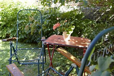 Empty garden chairs, Gothenburg, Sweden