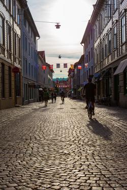Houses, street, Gothenburg, province of Västra Götalands län, Sweden by Andrea Lang