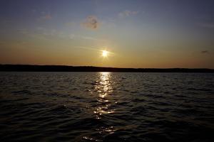 Sundown, lake, Sweden by Andrea Lang