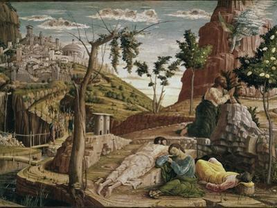 Agony in the Garden (St. Zeno Altarpiece Detail) by Andrea Mantegna