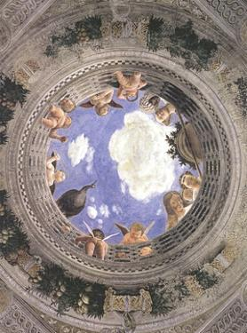 Ceiling of the Palazzo Ducale, Mantua by Andrea Mantegna