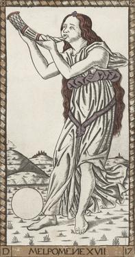 Melpomene by Andrea Mantegna