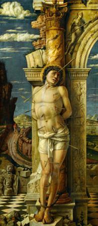 Saint Sebastian (around 1460) by Andrea Mantegna