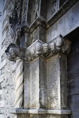 Entrance, Church of Saint Anthony Abbot, 1471, Tossicia, Abruzzo, Italy, Detail by Andrea Palladio