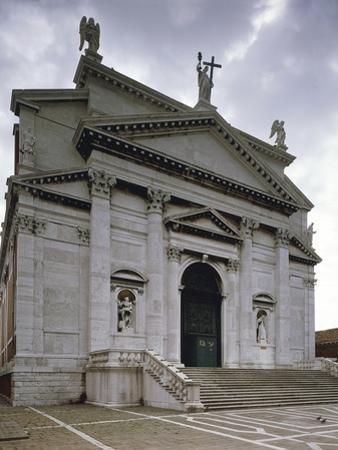 Italy, Venice, Basilica of Most Holy Redeemer, Facade by Andrea Palladio