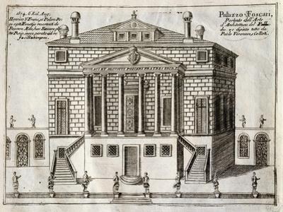 Main Facade of Villa Foscari known as La Malcontenta by Andrea Palladio