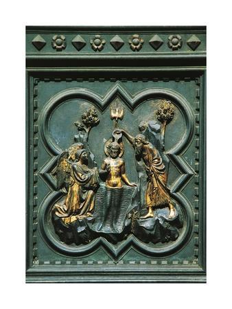 Baptism of Jesus, Tile Bronze
