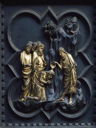 St John Baptizing Christ, Panel