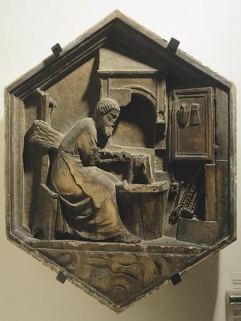 Tubalkain, the First Blacksmith Artisan Working Copper and Iron