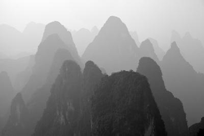 China , Guangxi , Mysterious Mountains in Yangshuo Region, China.