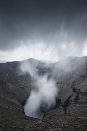 Indonesia, Java, Smoking Volcano Bromo, Bromo Tengger Semeru National Park, Isle of Java.