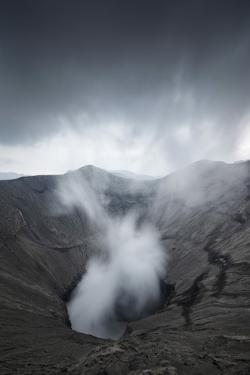 Indonesia, Java, Smoking Volcano Bromo, Bromo Tengger Semeru National Park, Isle of Java. by Andrea Pozzi