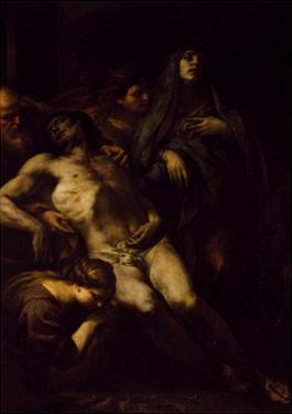 Deposition of Christ. by Andrea Vaccaro