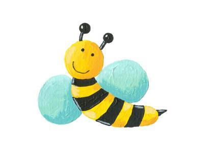 Cute Bee Flying by andreapetrlik