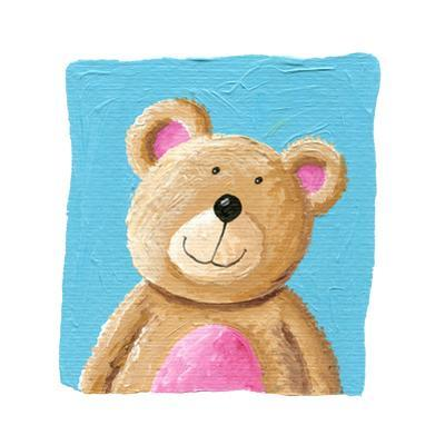 Cute Teddy Bear on the Blue Background by andreapetrlik