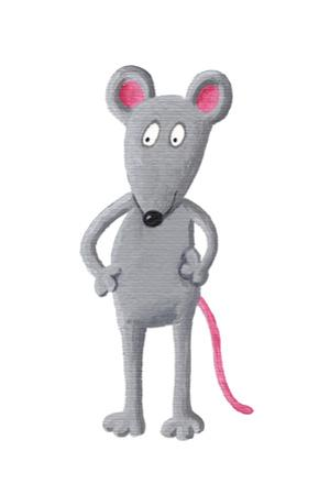 Funny Grey Mouse by andreapetrlik