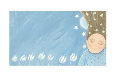 Little Girl Dreaming in the Garden by andreapetrlik
