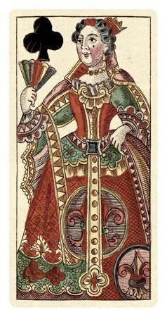 Queen of Clubs (Bauern Hochzeit Deck)