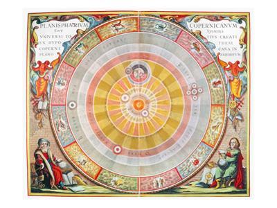 Copernican Universe, 1660 by Andreas Cellarius