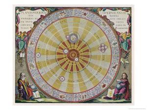 Copernicus's System by Andreas Cellarius